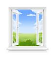 white classic plastic window vector image