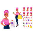 young beautiful african american business woman vector image vector image