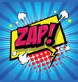 zap comic speech bubble vector image vector image