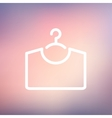 Shirt on hanger thin line icon vector image