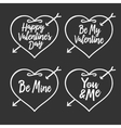 Valentine day typography badges set All lovers vector image