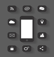 mobile phone icon media round vector image