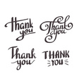 A set of style Thank You design elements lettering vector image vector image