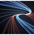 Abstract lines background motion design vector image vector image