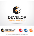 abstract logo template vector image