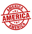 america red round grunge stamp vector image vector image