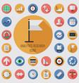 analytics research flat digital icon set vector image