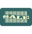 barcode with sale word vector image