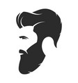Bearded man hipster style fashion silhouette vector image
