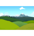 beauty hilly mountain with landscape background vector image vector image