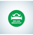 Bed and Breakfast Sticker Dish Cover vector image vector image