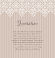 Beige baroque damask invitation blank with a place