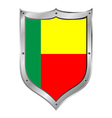Benin flag button vector image vector image