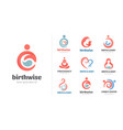 birth pregnancy family and bacare logos and vector image vector image