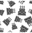 birthday cake seamless pattern background icon vector image vector image