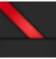 black leather diagonal panels background on red vector image vector image
