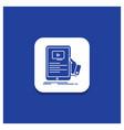 blue round button for forum online webinar vector image vector image