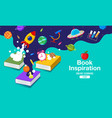 book inspiration back to school planet science vector image