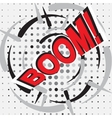Boom wording sound effect set design for comic vector image vector image