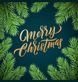 christmas card gold lettering on black background vector image vector image