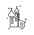 church icon design vector image vector image