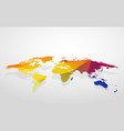 color blank world map fake 3d vector image