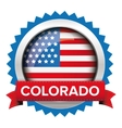 Colorado and USA flag badge vector image vector image