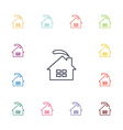 cozy home flat icons set vector image
