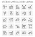 crane lifting machine icon vector image