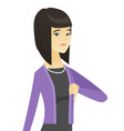 disappointed asian business woman with thumb down vector image vector image