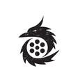 dragon movie logo vector image vector image