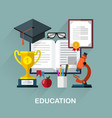 education symbols vector image