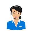 Female call centre operator vector image vector image