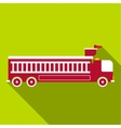 Fire engine icon flat style vector image vector image