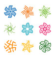flowers of different types logo signs set vector image