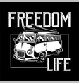freedom life car print vector image