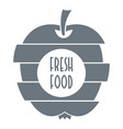 fresh food logo simple style vector image