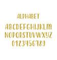 gold glitter hand drawn latin modern calligraphy vector image vector image
