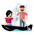 Gondola Venice Flat style colorful vector image vector image