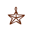 Hand Drawn Star Decoration vector image vector image
