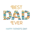 Happy fathers day card Cars and Motobike on White vector image