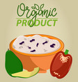healthy food vegetable and fruit poster vector image