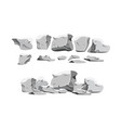 heavy stones set in cartoon style vector image