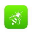 honey bee icon digital green vector image