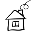 house sketch vector image vector image
