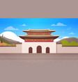 korea temple landscape south korean palace over vector image vector image