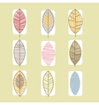 Leaf Icon Collection in Linear vector image vector image