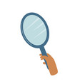 magnifying loupe in hand detective agency vector image