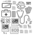 medical equipment isolated icon set vector image vector image