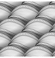 monochrome wave seamless pattern vector image vector image